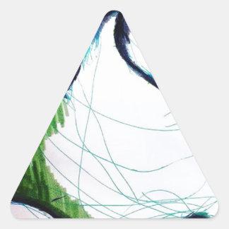 Ich bin die merkwürdigere Sache Dreieckiger Aufkleber