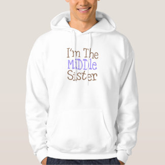 Ich bin die mittlere Schwester (lila) Hoodie