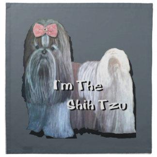 Ich bin die Sammlung Shih Tzu Stoffserviette