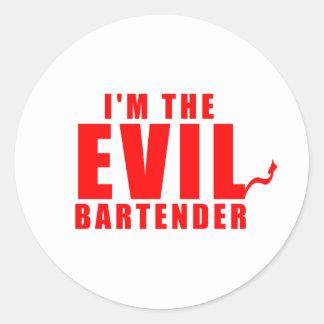 Ich bin die schlechten Barkeeper-Geschenke Runder Aufkleber