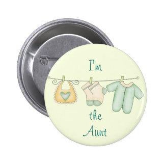 """""""Ich bin die Tante """" Anstecknadelbutton"""