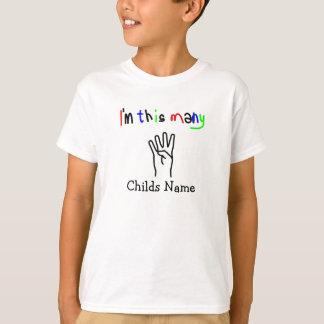 Ich bin diese vielen 4 Jahre Kinderalter T-Shirt