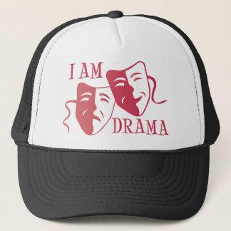 Ich bin Drama-Pinksteigung Truckerkappe