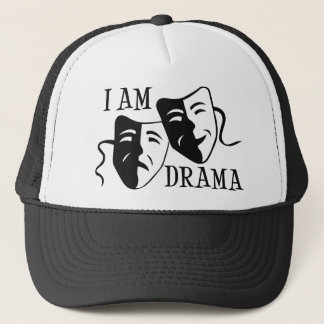 Ich bin Dramaschwarzes Truckerkappe