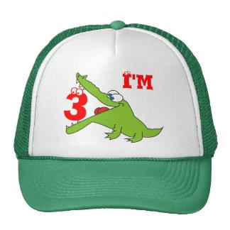 Ich bin drei der lustige Krokodil-Kinderhut Trucker Caps