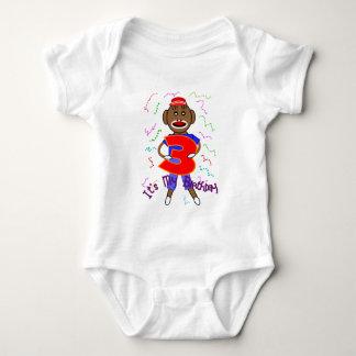 Ich bin drei, Geburtstags-Socken-Affe--Entzückend Baby Strampler