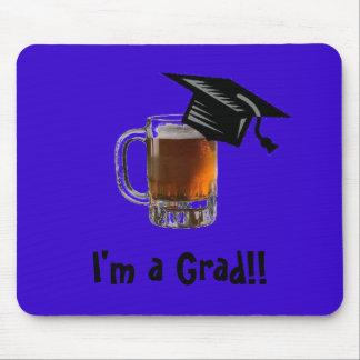 Ich bin ein Absolvent!! Bier mousepad