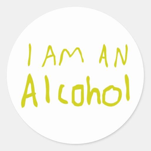 Ich bin ein Alkohol Runder Sticker