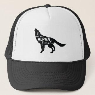 Ich bin ein Alpha weibliches Wolf-Mädchen Truckerkappe