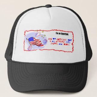 Ich bin ein Amerikaner Truckerkappe
