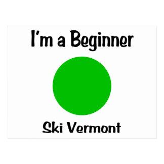Ich bin ein Anfänger-Ski Vermont Postkarte