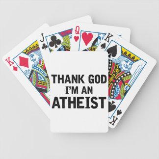 Ich bin ein Athiest Bicycle Spielkarten