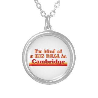 Ich bin ein bisschen eine große Sache in Cambridge Versilberte Kette