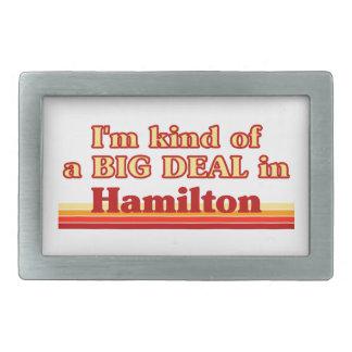 Ich bin ein bisschen eine große Sache in Hamilton Rechteckige Gürtelschnalle
