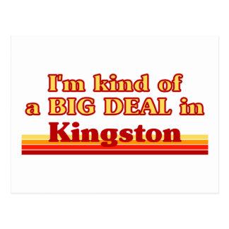 Ich bin ein bisschen eine große Sache in Kingston Postkarte
