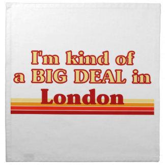 Ich bin ein bisschen eine große Sache in London Stoffserviette