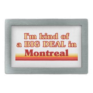 Ich bin ein bisschen eine große Sache in Montreal Rechteckige Gürtelschnalle