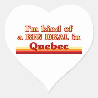 Ich bin ein bisschen eine große Sache in Quebec Herz-Aufkleber
