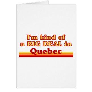 Ich bin ein bisschen eine große Sache in Quebec Karte