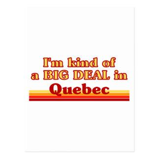 Ich bin ein bisschen eine große Sache in Quebec Postkarte