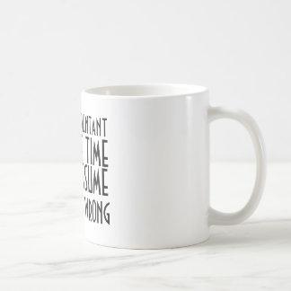 Ich bin EIN BUCHHALTER, ZEIT ZU RETTEN, LIESS US Kaffeetasse
