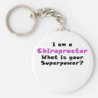 Ich bin ein Chiropraktor, was Ihre Supermacht ist Schlüsselanhänger