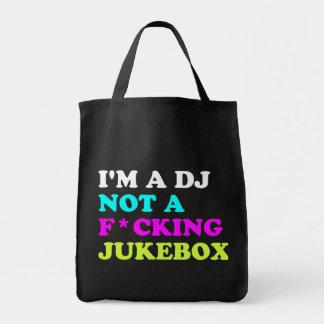 Ich bin ein DJ nicht ein Musikautomat Einkaufstasche