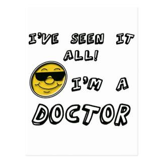 Ich bin ein Doktor Postkarte
