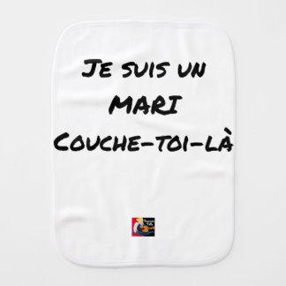 Ich bin ein Ehemann Couche-toi-là - Wortspiele Baby Spucktuch