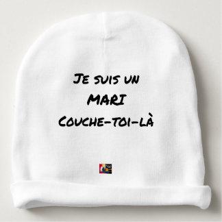 Ich bin ein Ehemann Couche-toi-là - Wortspiele Babymütze