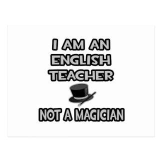 Ich bin ein Englischlehrer… nicht ein Magier Postkarte