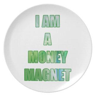 Ich bin ein Geld-Magnet Flacher Teller
