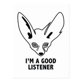 Ich bin ein guter Zuhörer Postkarte