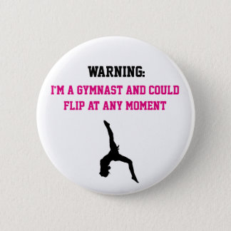 Ich bin ein Gymnast, den magentarotes Runder Button 5,1 Cm