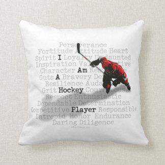 Ich bin ein Hockey-Spieler Kissen