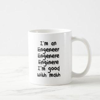 Ich bin ein Ingenieur, den ich an Mathe gut bin Kaffeetasse