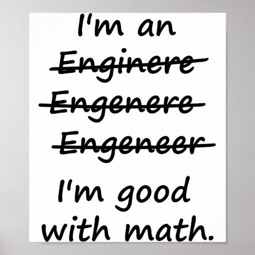 Ich bin ein Ingenieur, den ich an Mathe gut bin