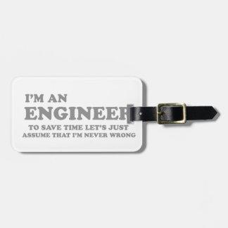 Ich bin ein Ingenieur Gepäckanhänger