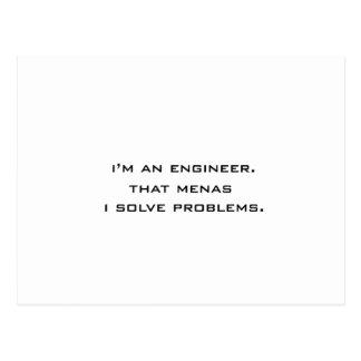 Ich bin ein Ingenieur Postkarte