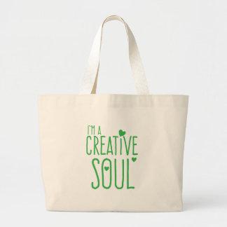 Ich bin ein kreatives Soul Jumbo Stoffbeutel