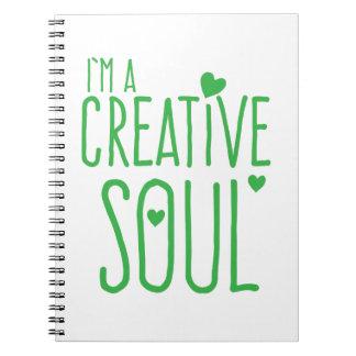 Ich bin ein kreatives Soul Notiz Buch
