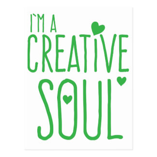 Ich bin ein kreatives Soul Postkarte