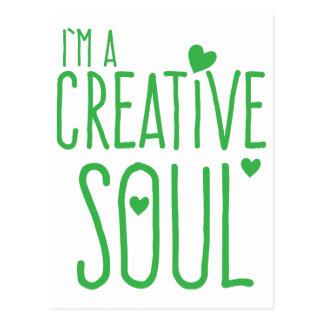 Ich bin ein kreatives Soul Postkarten