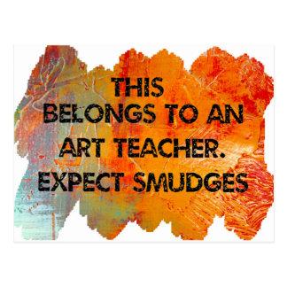 Ich bin ein Kunstlehrer. Erwarten Sie Flecken Postkarte