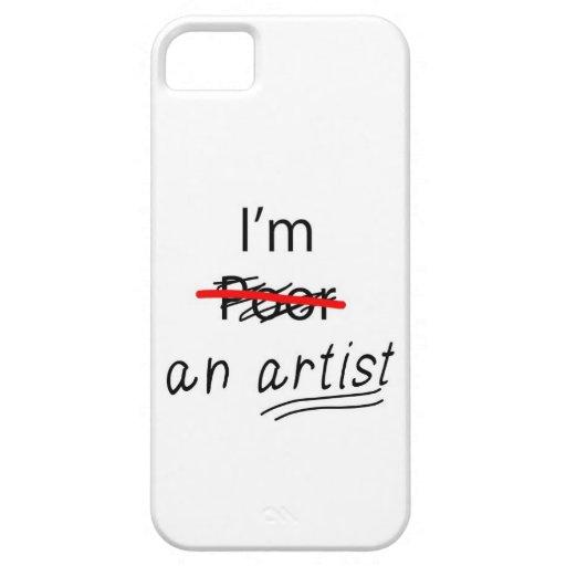 Ich bin ein Künstler - rufen Sie Fall/Abdeckung an Etui Fürs iPhone 5