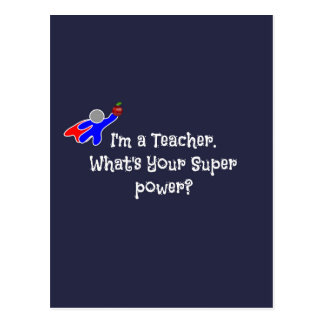 Ich bin ein Lehrer--Lehrer-Spaß Postkarten