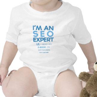 """""""Ich bin ein lustiger SEO Experte"""" Baby Strampelanzug"""