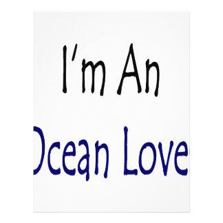 Ich bin ein Ozean-Liebhaber Flyerbedruckung