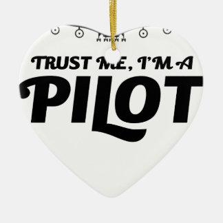 Ich bin ein Pilot Keramik Ornament