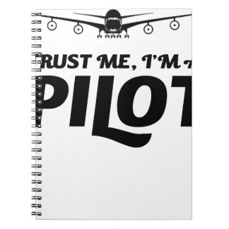 Ich bin ein Pilot Notizblock